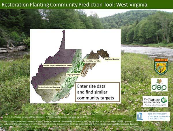 Restoration planting community prediction tool for Wv dnr fishing license